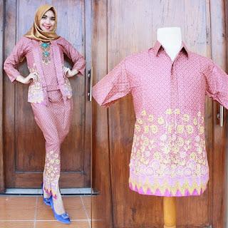 desain baju batik modern berpasangan 2018