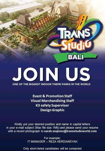 Lowongan kerja Trans Studio Bali bagian 4 2018