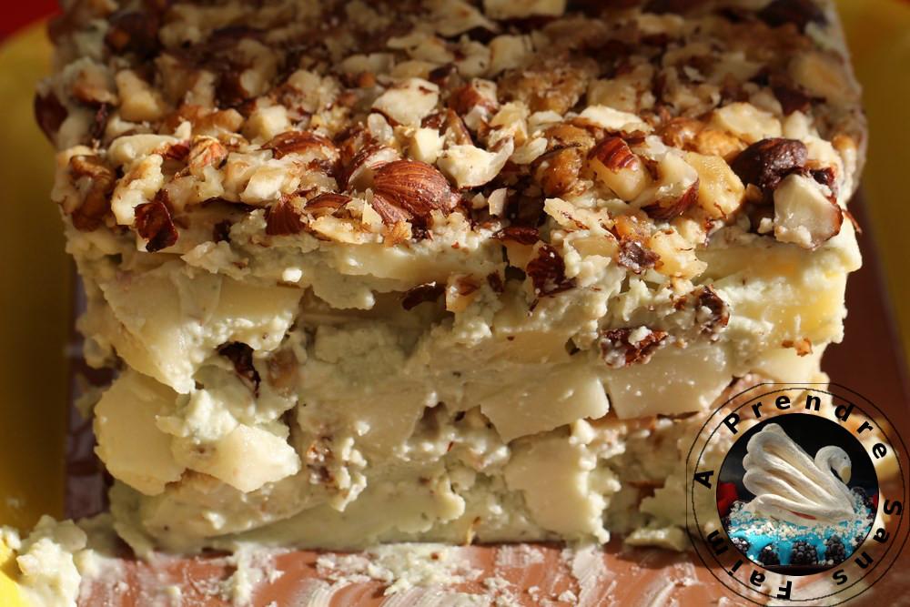 Terrine de fromages aux noix et noisettes