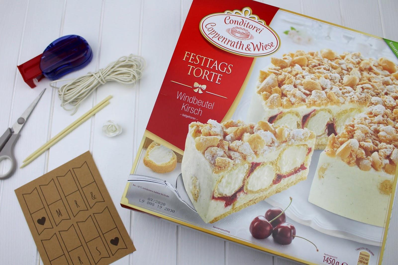 DIY - 3 Cake Topper für die Hochzeitstorte ganz einfach selber machen + gratis Vorlage - mit Coppenrath & Wiese - Wimpelgirlande