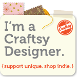 my patterns & tutorials are on Craftsy