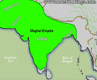Map of Mughal Empire