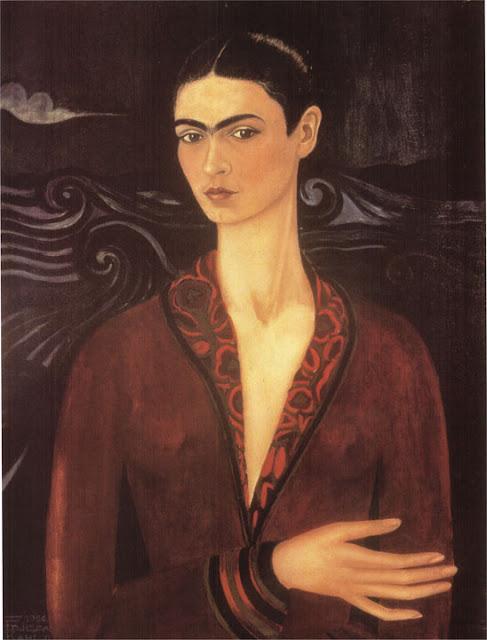 Фрида Кало - Автопортрет в бархатном платье. 1926