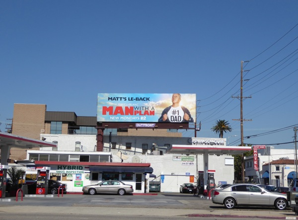 Man with a Plan TV series billboard