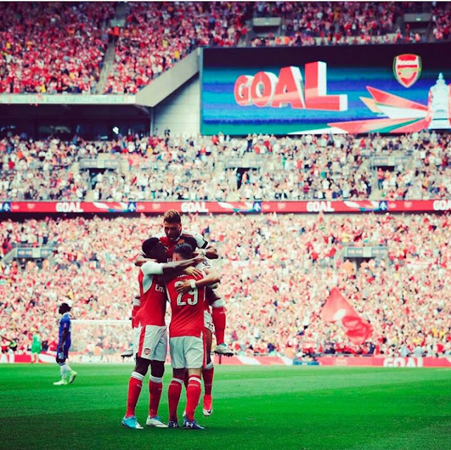 HT LIVE: Arsenal 1-0 Chelsea (FA Cup Final)
