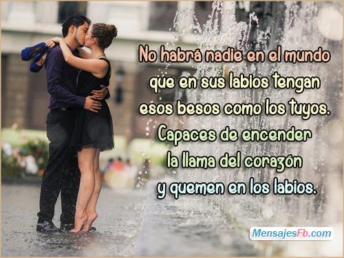 Mensajes Bonitos: Imagenes Con Frases De Besos Romanticos