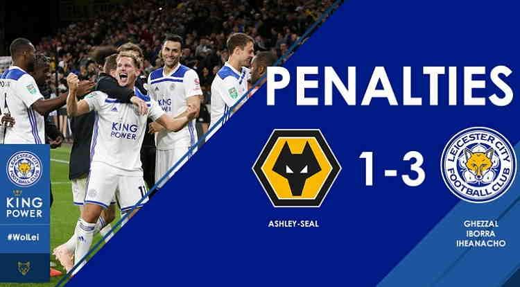 Hasil Wolverhampton vs Leicester City Skor Akhir (1) 0-0 (3)