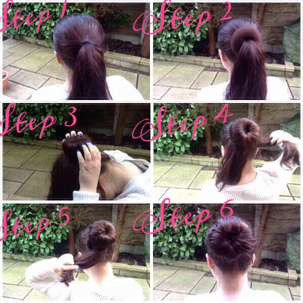 How to: use a hair doughnut (long, thick hair)