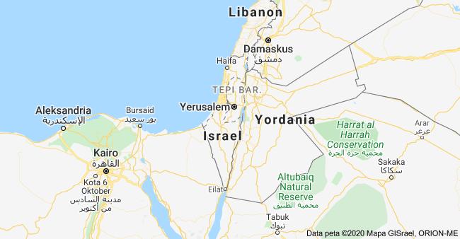 Palestina tidak ada di Google Map
