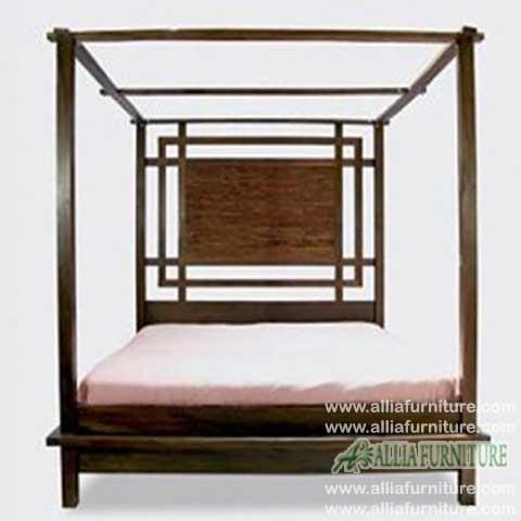 tempat tidur minimalis kanopi dinasty