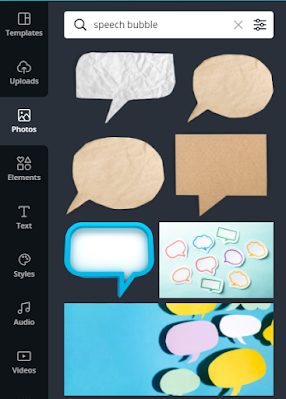 How to make creative speech bubbles in Canva?