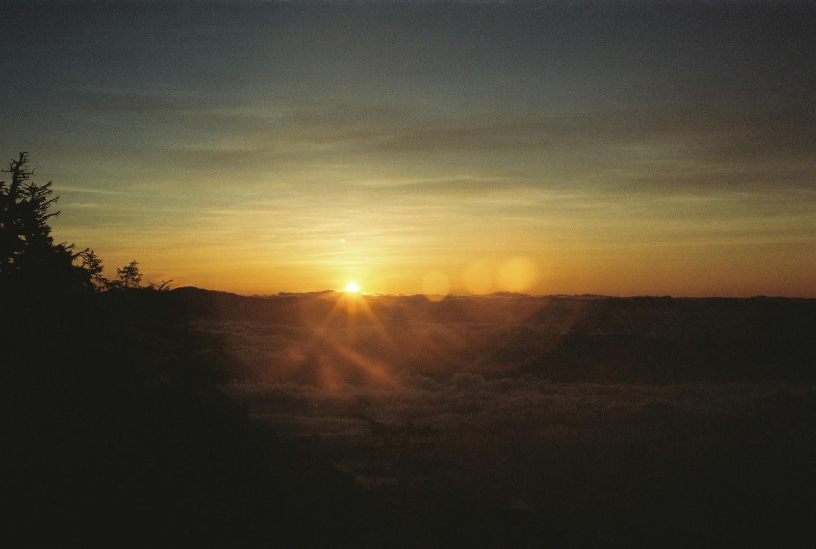 地蔵岳日の出