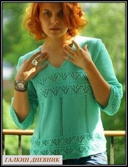 letnii pulover spicami