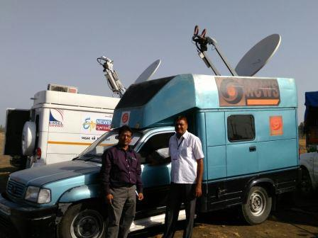 Prasar Bharati Parivar: Hot switching of DD NEWS done with DSNG van ...
