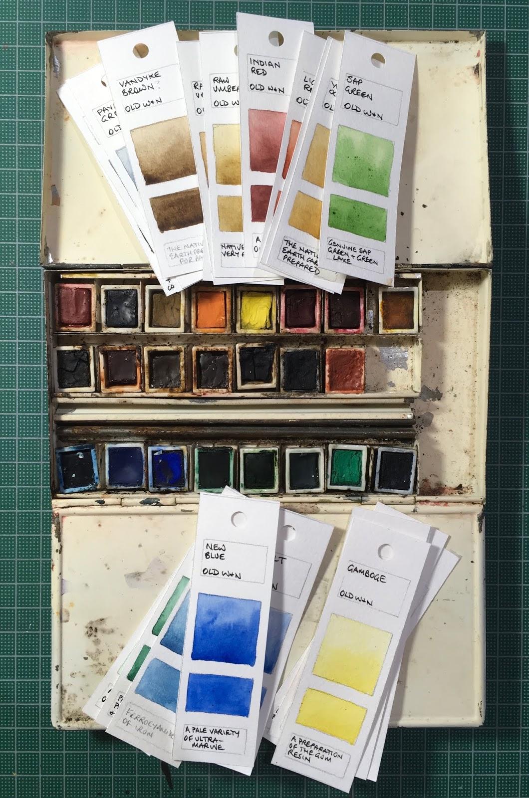 Winsor And Newton Watercolor Palette : winsor, newton, watercolor, palette, Blundell, Artist:, Antique, Winsor, Newton, Paint
