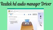 Driver Realtek hd audio manager download for windows 10