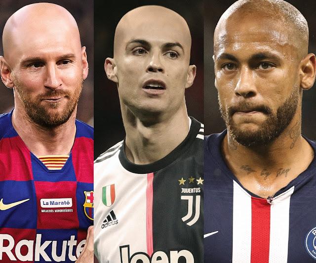 Messi, Cristiano y Neymar Calvos