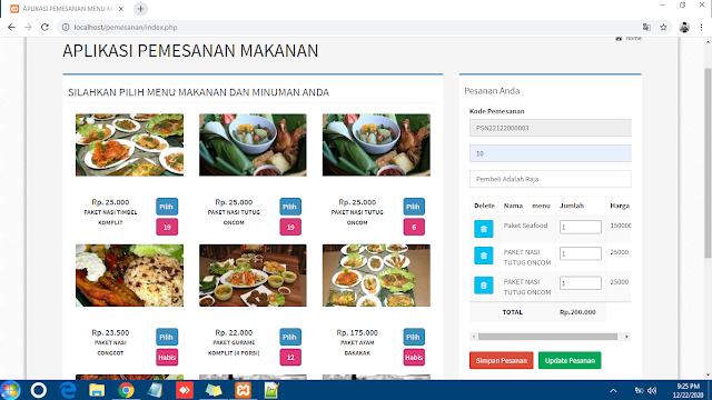 Source Code Aplikasi Pemesanan Makanan Online