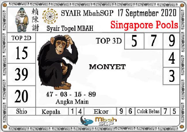 Kode syair Singapore Kamis 17 September 2020 153
