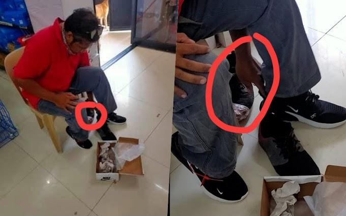Dahil naka-tape na ang sapatos, delivery rider binigyan ng brand new shoes ng kanyang customer