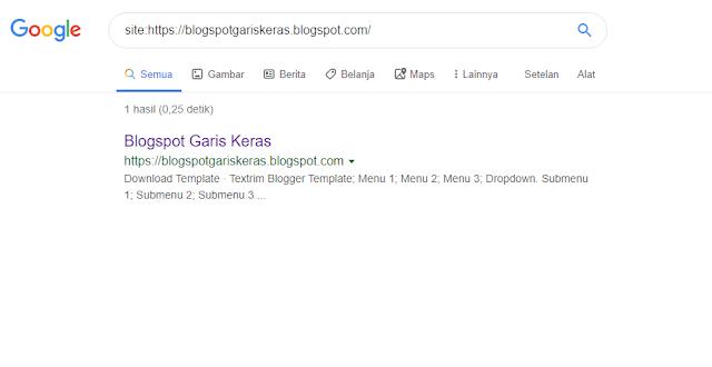 Cara mudah mengetahui apakah situs atau artikel sudah terindex google atau belum?