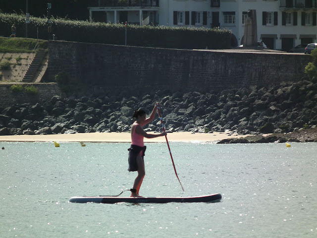 Standup paddleboarding, Nivelle inlet, Ciboure, Pyrenees-Atlantiques. France. Photographed by Susan Walter. Tour the Loire Valley with a classic car and a private guide.