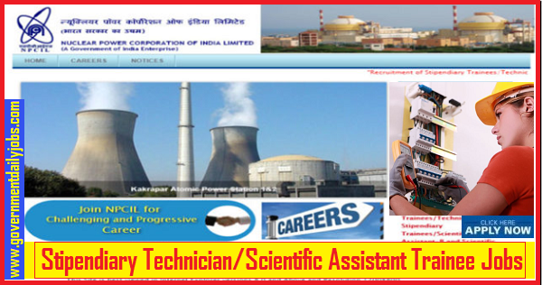 NPCIL Recruitment 2019, 68 Stipendiary Trainees & Other Vacancies, Apply online