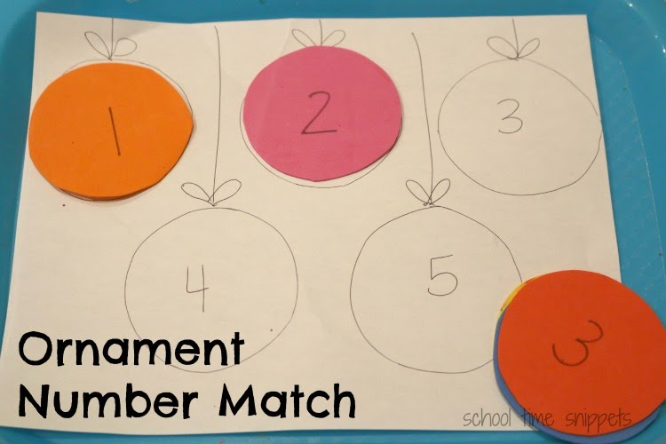 christmas math toddler tray