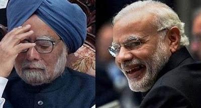 मनमोहन सिंह और नरेंद्र मोदी की तस्वीर। भारत के प्रधानमंत्री या प्रधानमंत्री दोनों. Narendra Modi and Manmohan Singh, bnoth Indian Prime Ministers at some time