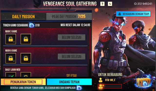 Cara Bermain Event Vengeance Soul Gathering Free Fire