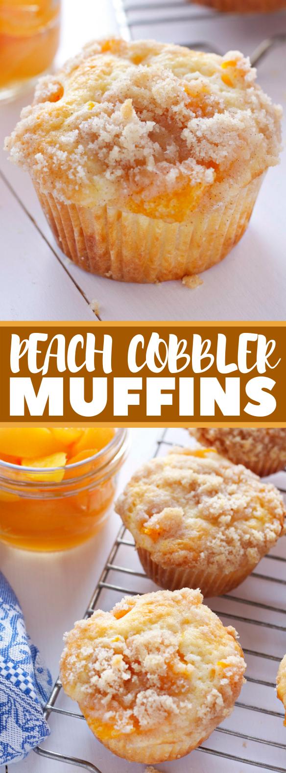 PEACH COBBLER MUFFINS #cupcake #dessert