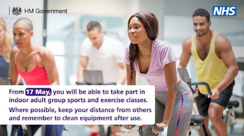 uk gov from 17th may you can exercise indoors in classes