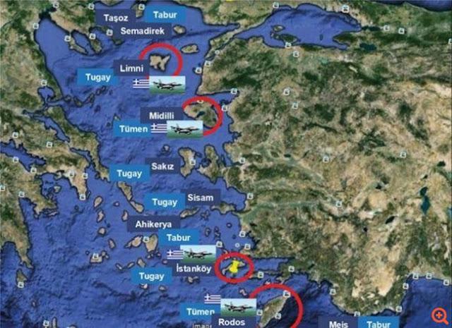 Τουρκία: Οι Έλληνες στρατιωτικοποίησαν παράνομα 16 νησιά