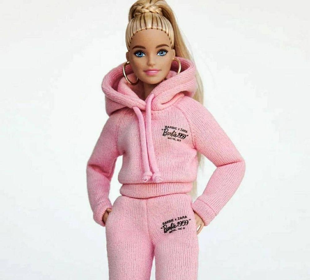 Кукла Barbie Zara блондинка в розовом костюме
