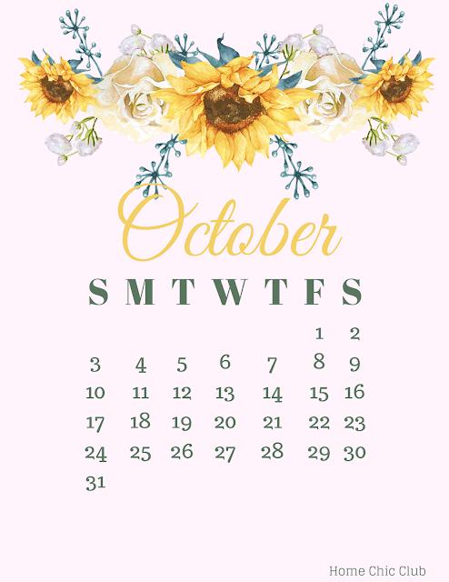 Free  Printable Calendar /October 2021