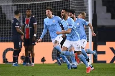 مانشستر سيتي يضع قدماً في النهائي بعد الفوز على باريس سان جيرمان في دوري أبطال أوروبا