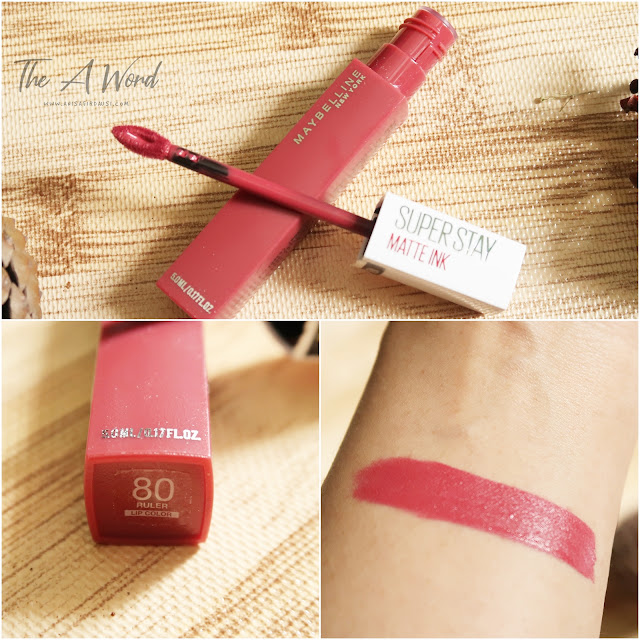 REVIEW Maybelline Super Stay Matte Ink 80 Ruler