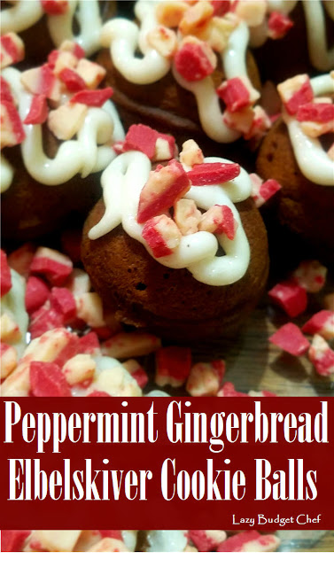 peppermint gingerbread ebelskiver cookie ball recipe