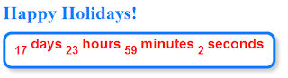 Christmas  countdown timer widget,