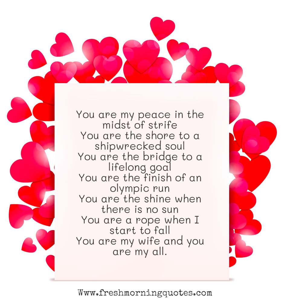 you are my peace in the midst of strife Heart Touching Love Poems for Her