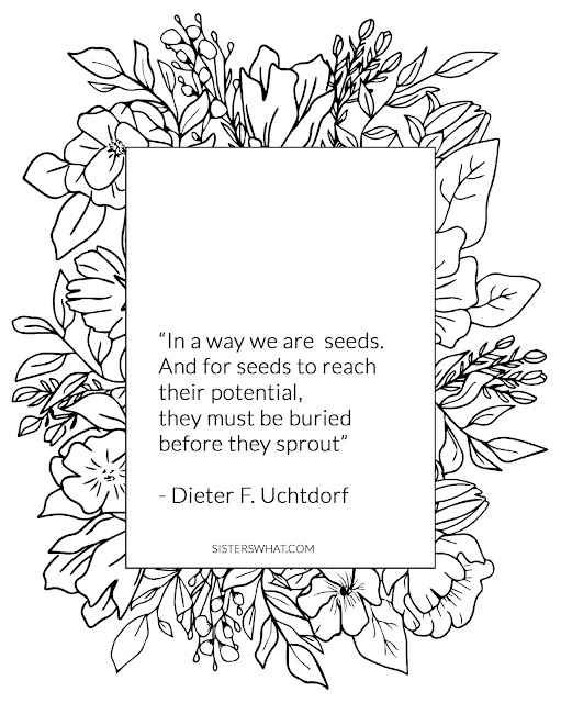 lds quotes uchtdorf seed quote coloring page