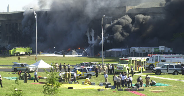 Pentagon wreckage on 9/11.