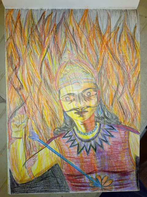 Drawing image of ravan