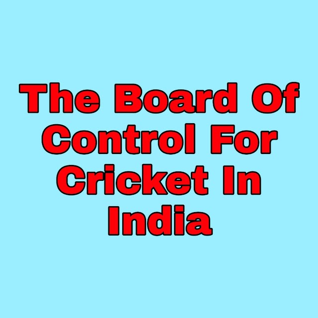 BCCI Full Form- The full form of India cricket board