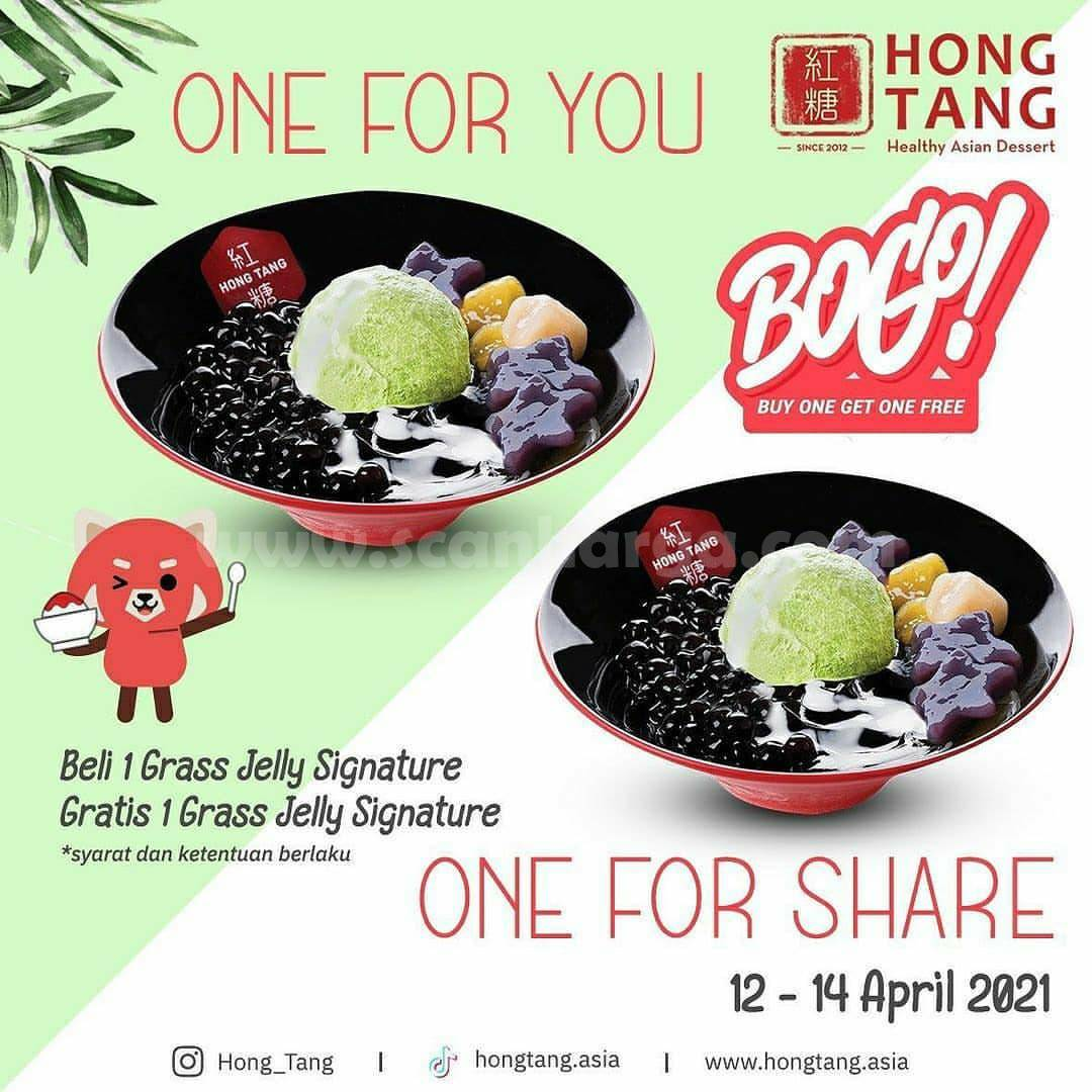 HONG TANG Promo Beli 1 Gratis 1 Grass Jelly Signature