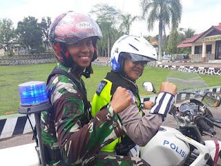 Armed 16 dan Polres Landak Gelar Patroli Gabungan