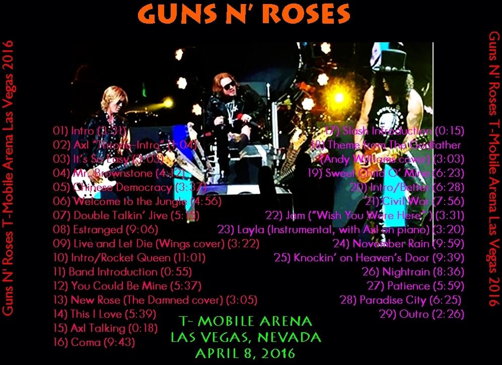 guns and roses in vegas