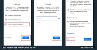 Cara Membuat akun Gmail di HP #3