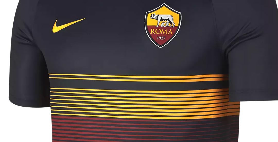 quality design 5c22b cce7f Unique Nike AS Roma 18-19 Pre-Match Jersey Released - Leaked ...