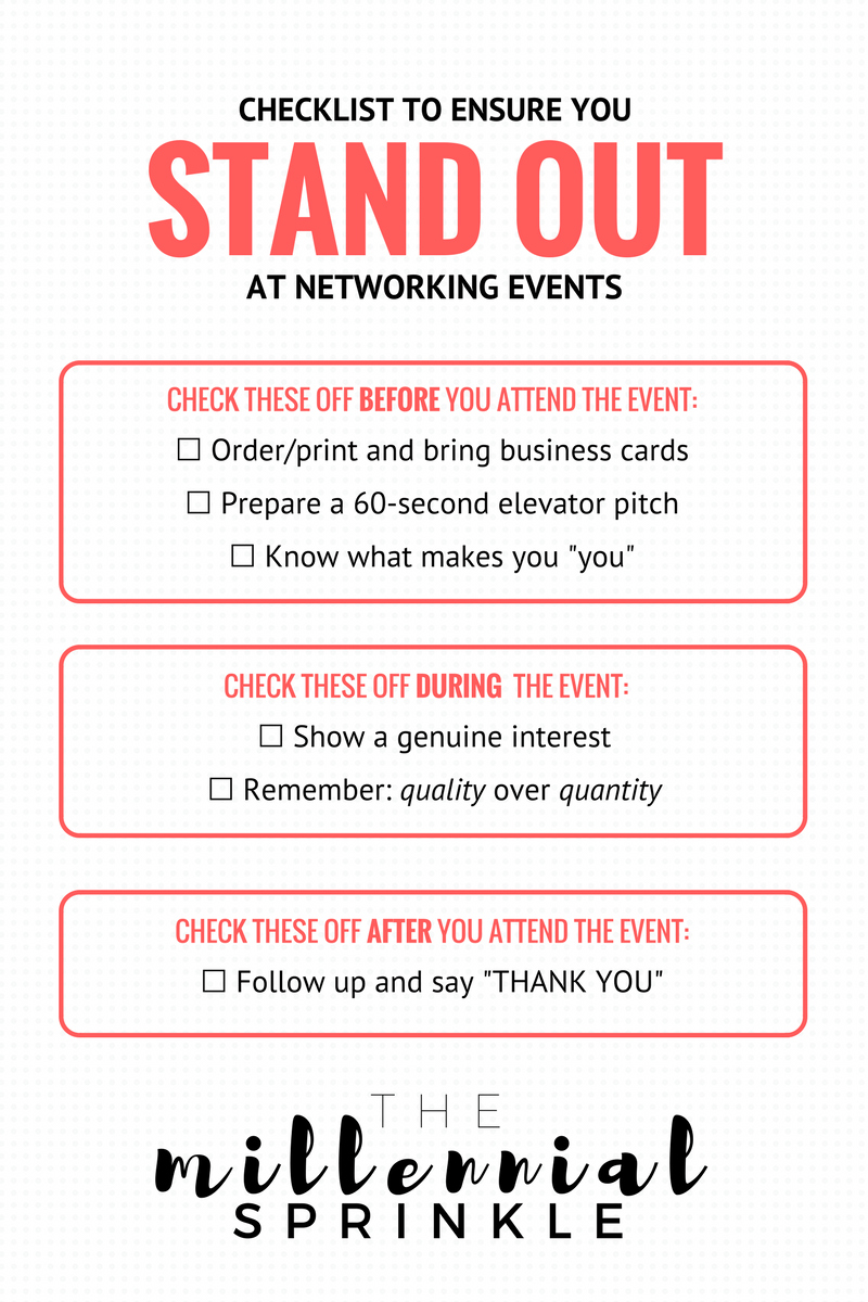 6 Surefire Ways to Stand Out at Any Conference or Networking Event - The Millennial Sprinkle